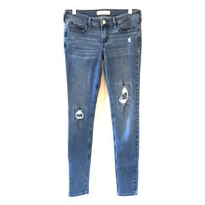 Hollister Distressed Skinny Jeans with Patches